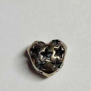 Pandora women's charm heart with cut out star